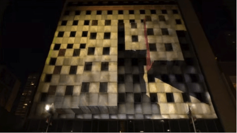 video mapping su edifici e monumenti per eventi