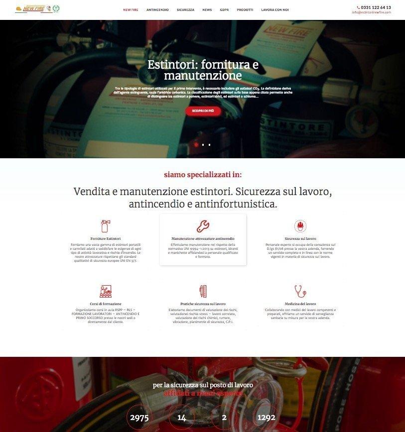 portfolio web designer Estintori New fire