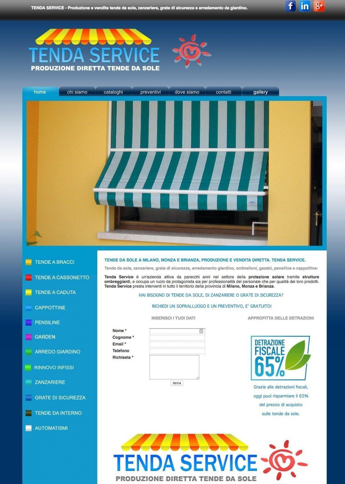 portfolio web designer tenda service
