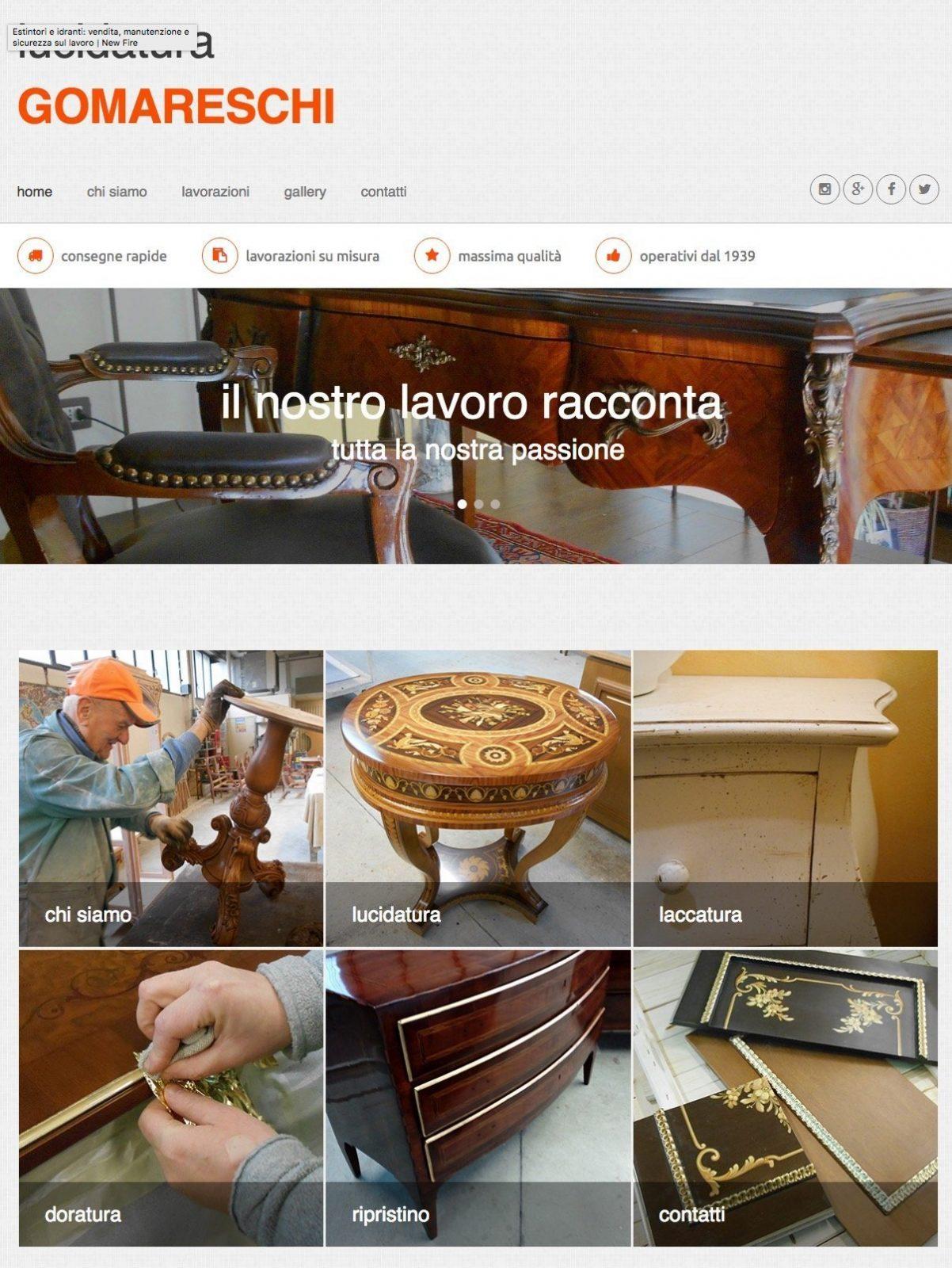 portfolio web designer lucidatura gomareschi