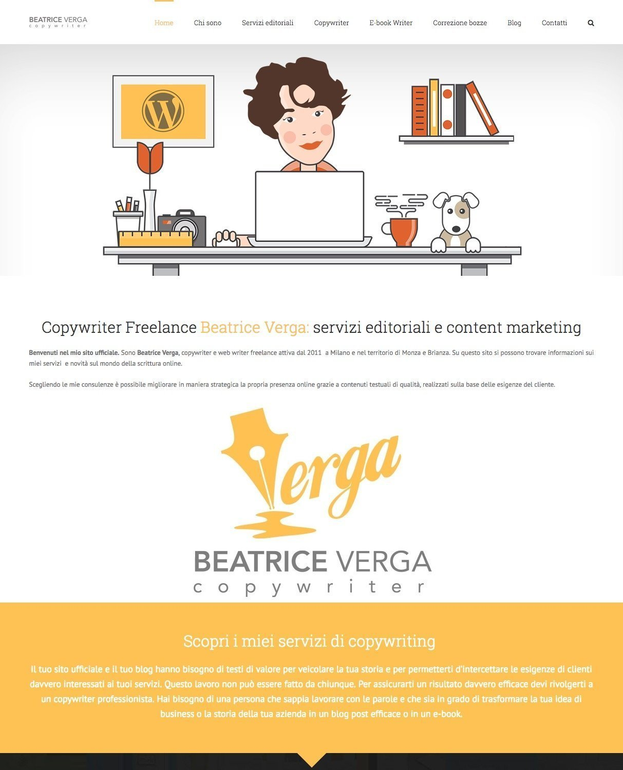 portfolio web designer Beatrice Verga