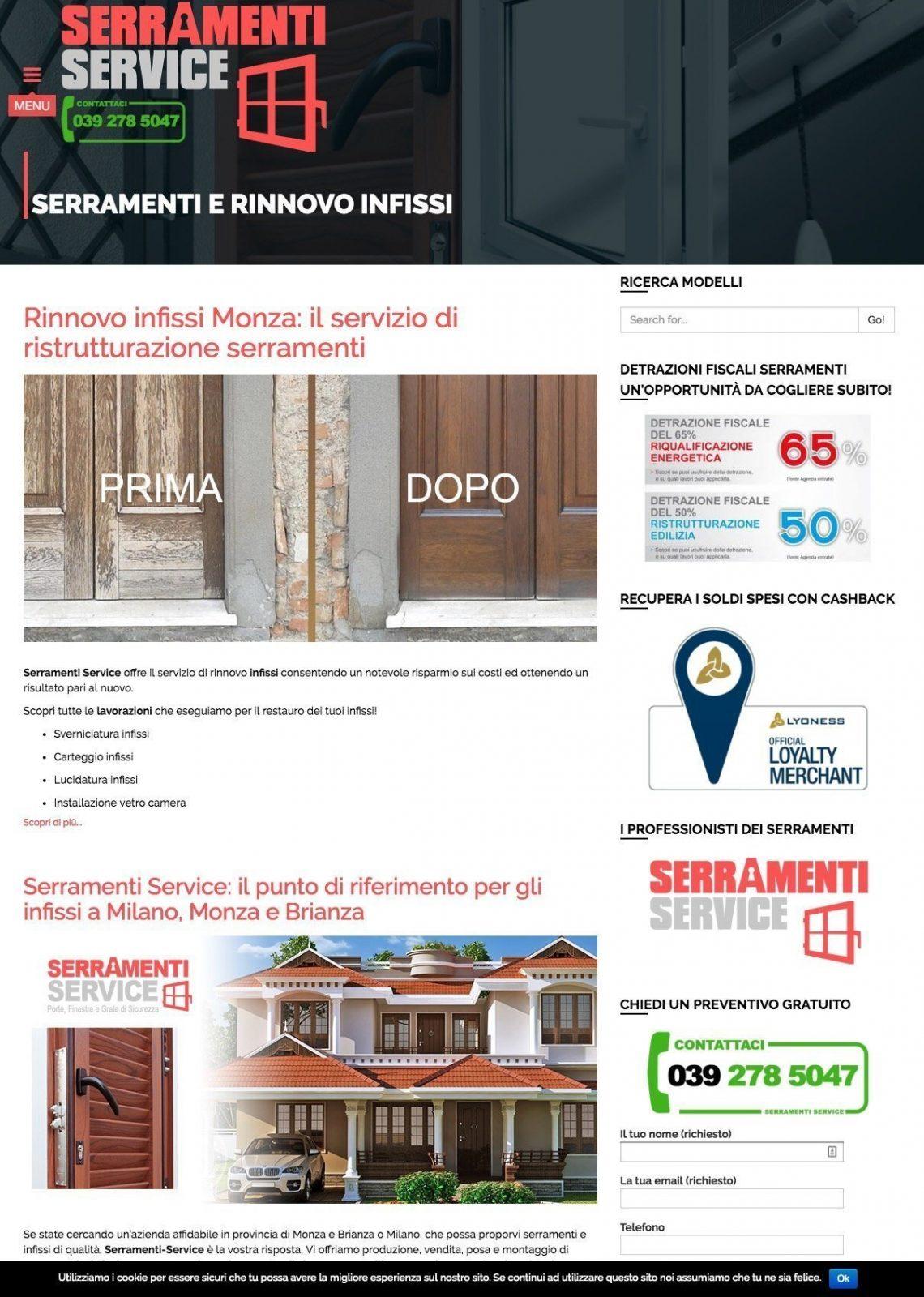 portfolio webdesigner serramenti service