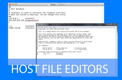 modificare il file host