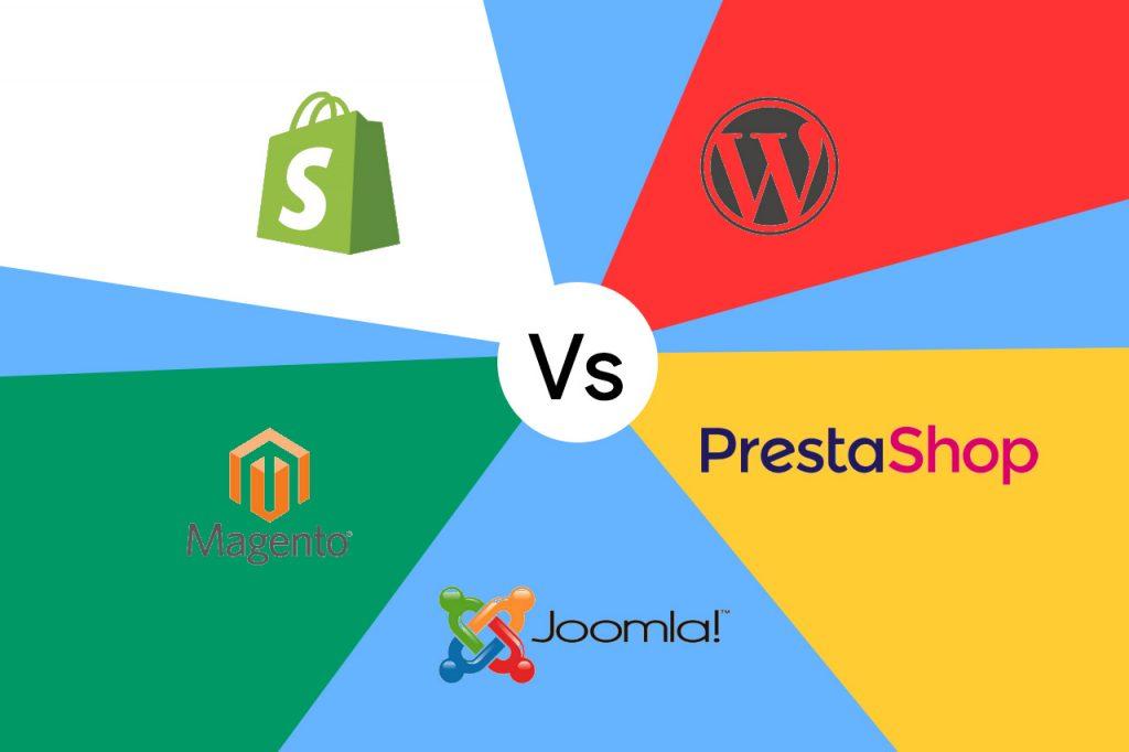 shopify vs magento vs prestashop vs wordpress woocommerce