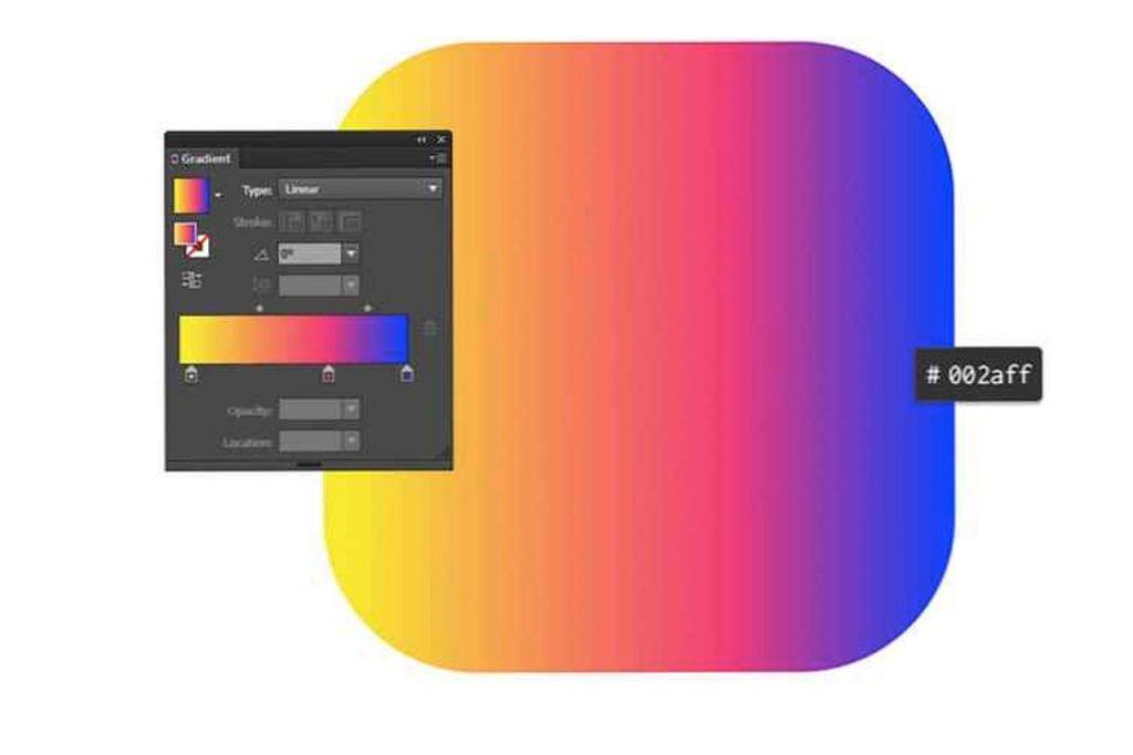 gradienti trend web design 2021